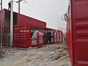 Chinese export to Germany SOC container -house.